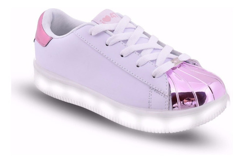 zapatillas 47st street luces led carga usb footy 143 144