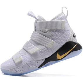 fc5b1a610ae Zapatillas Nike Lebron Soldier 11 Drop In Blanco Metálico