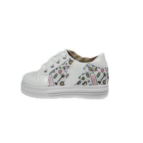 d174b147f Zapatillas De Nena Con Glitter Color Blanco - Ropa y Accesorios en ...