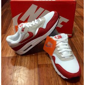 Nike Air Max 1 Og Red Talle 41 5 Ropa y Accesorios en