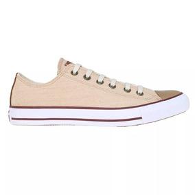 6746b3ac13068 Zapatillas Converse All Star Linen Hi Color Natural - Zapatillas en ...