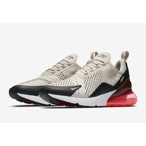 c3d9dad5c2942 Zapatillas Nike Air 270 Light Bone Hueso Rojo Original 2018