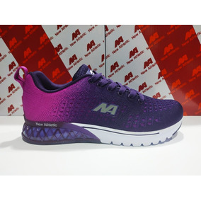 73e1bfb2a7d63 Zapatilla Mujer Importada New Athletic 100% Original Morado