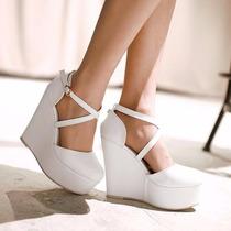 Zapato - Zapatilla Novia Blanco Plataforma
