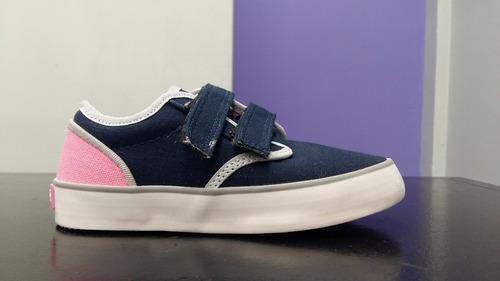 zapatillas abrojo azul marino/rosa del 22 al 35