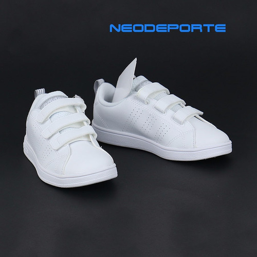 zapatillas adidas advantage clean blanco tallas 28 - 32 ndpp