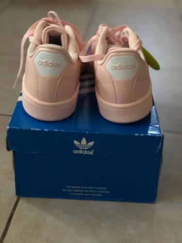 zapatillas adidas cuero dama 38 excelente estado rosa claro