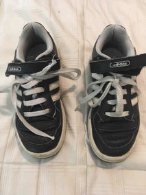 Adidas Niños Zapatillas Cuero Negro Zapatillas pGMVqSUz
