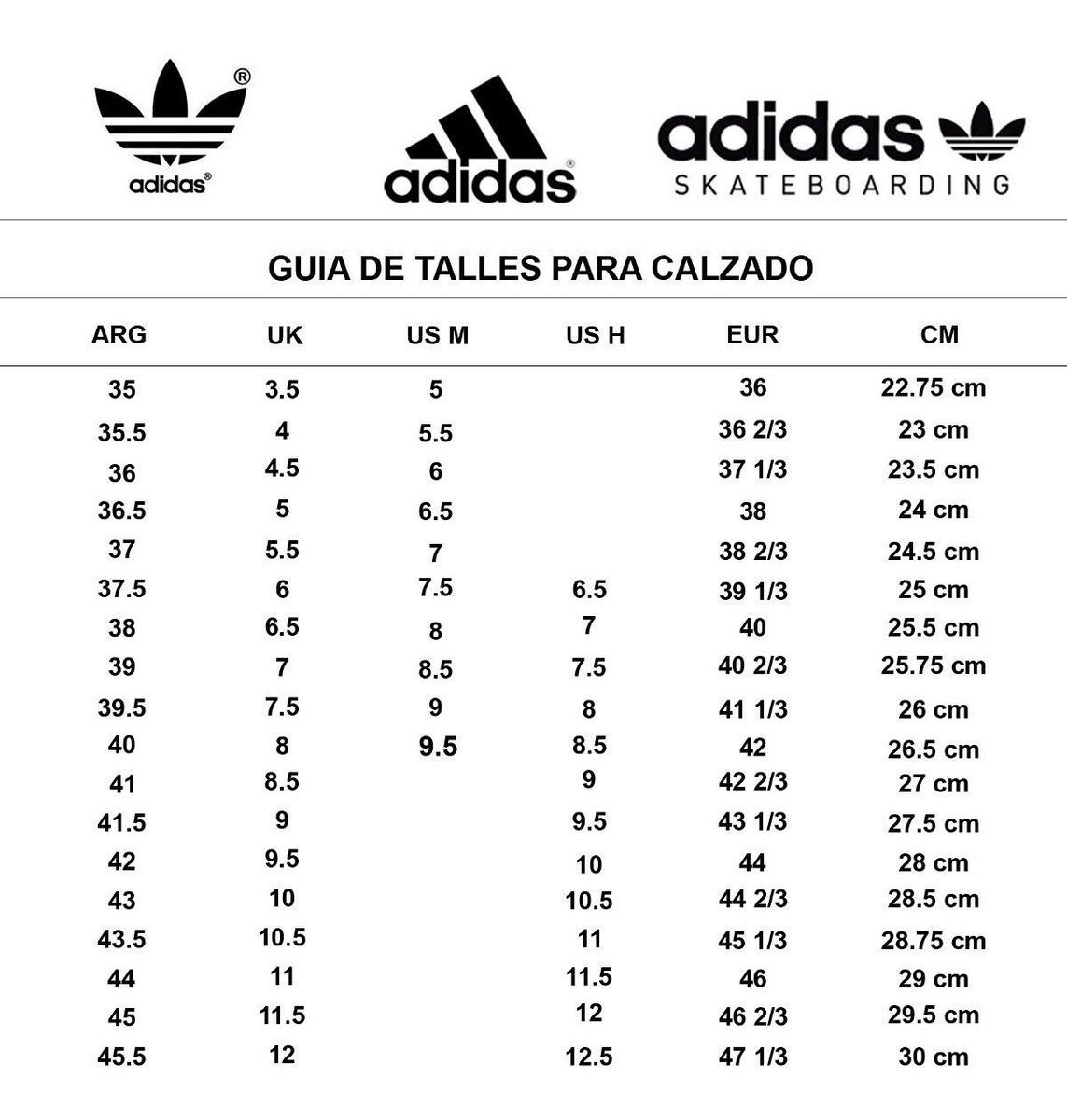 adidas us 7.5 to cm 2019