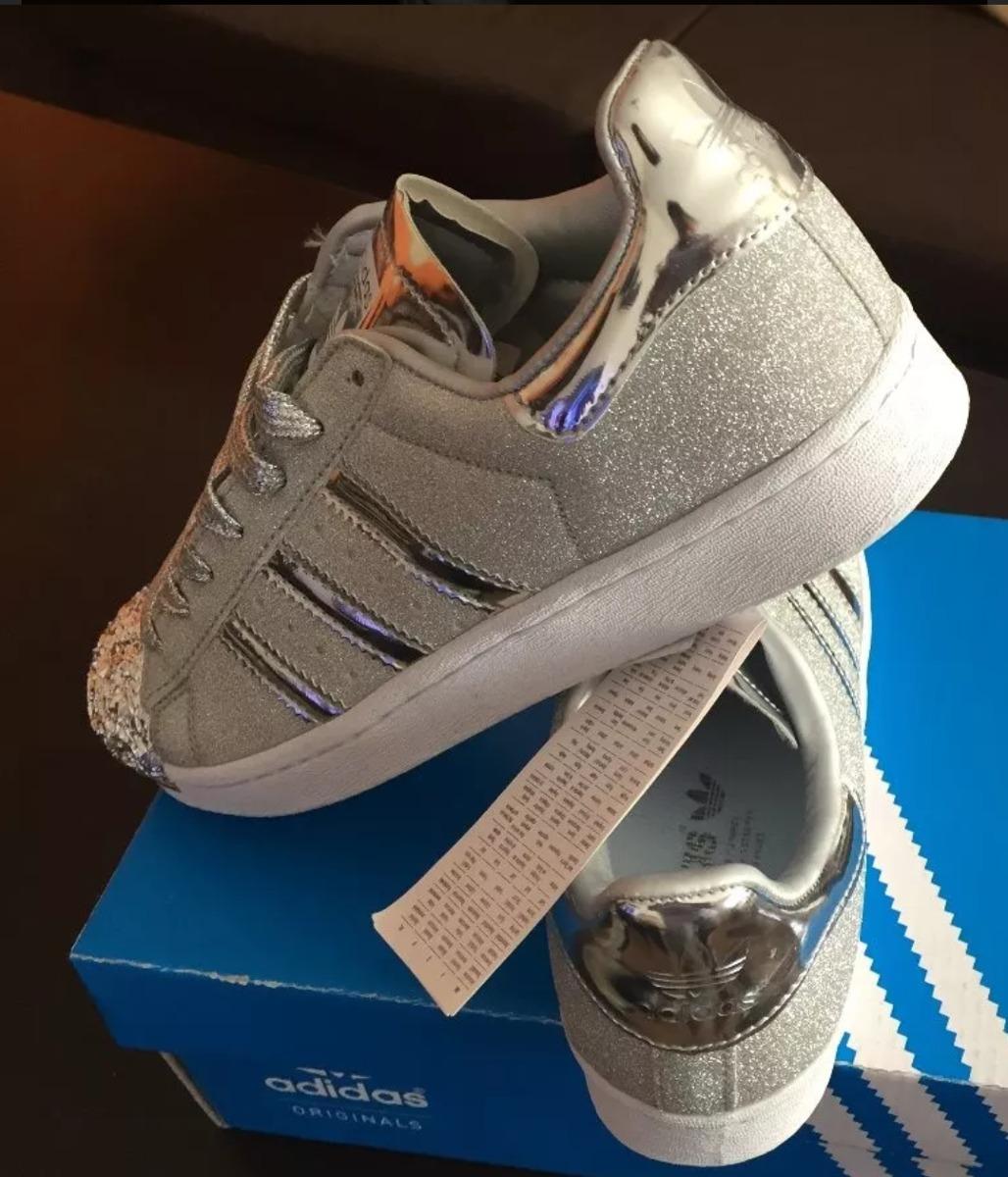 zapatillas adidas glitter con puntera plateada. Cargando zoom. a00b35edc7348