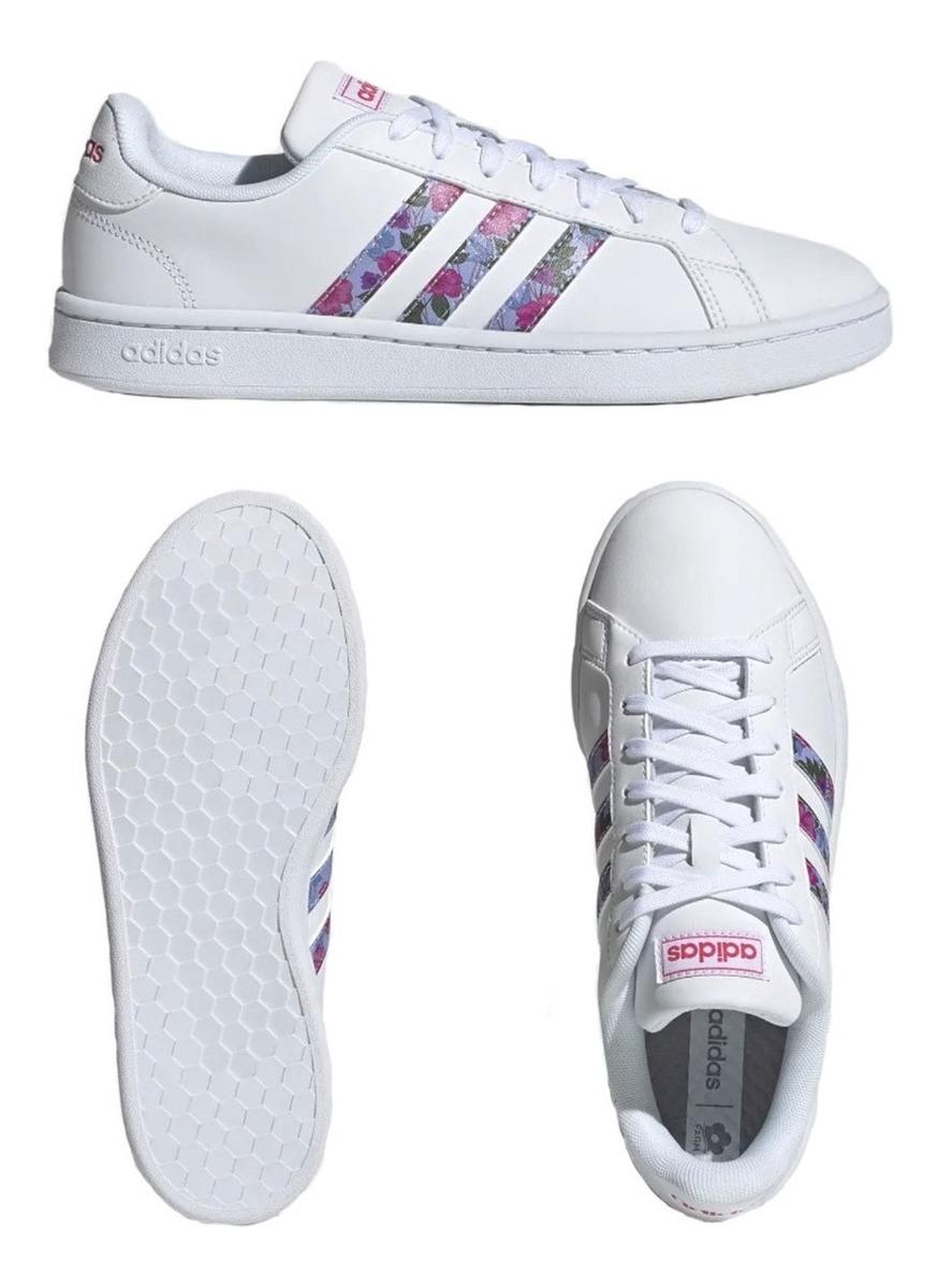 Zapatillas adidas Grand Court Blanca Urbanas Mujer Eezap