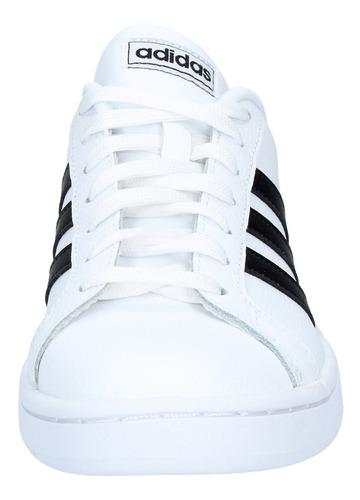 zapatillas adidas hombre urbanas grand court blanca negra-30
