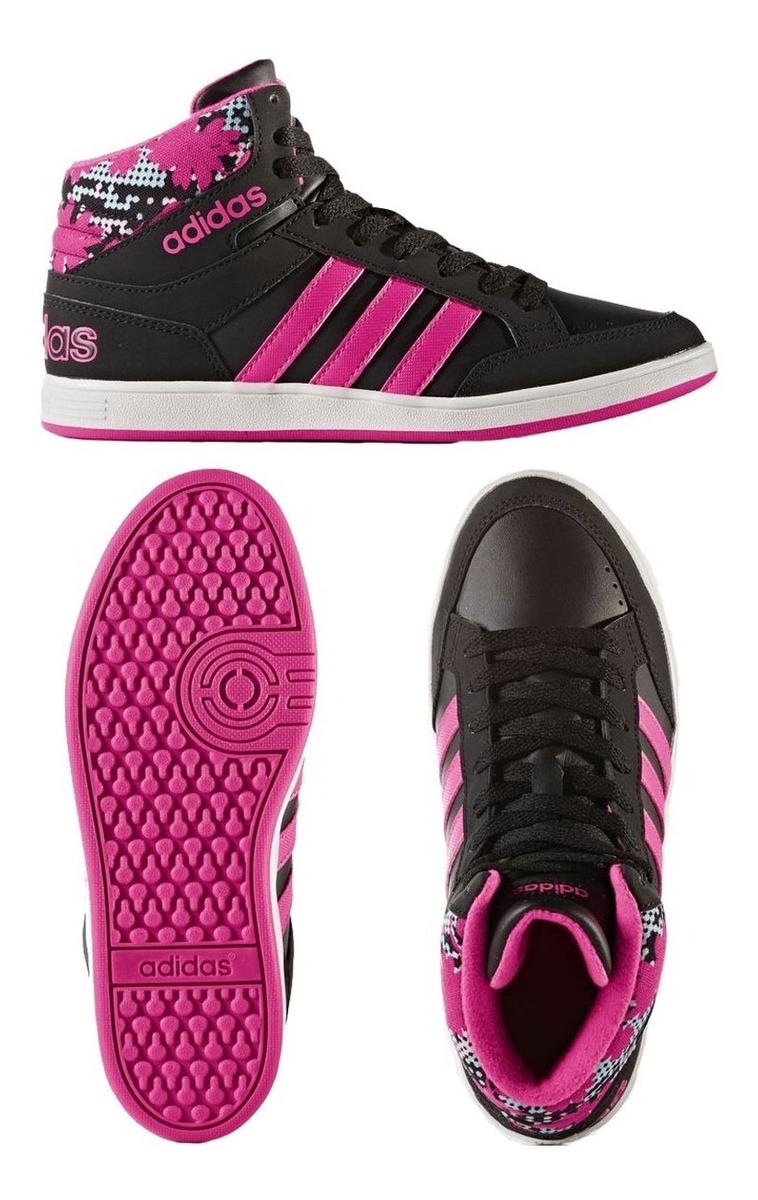 ad2843fead zapatillas adidas hoops mid negra rosa urbana niña empo2000. Cargando zoom.