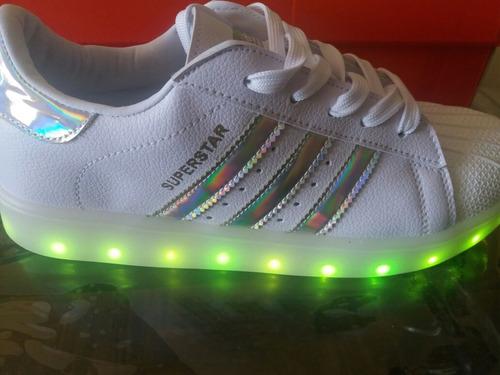 zapatillas adidas luces led con caja talla 36 a la 41