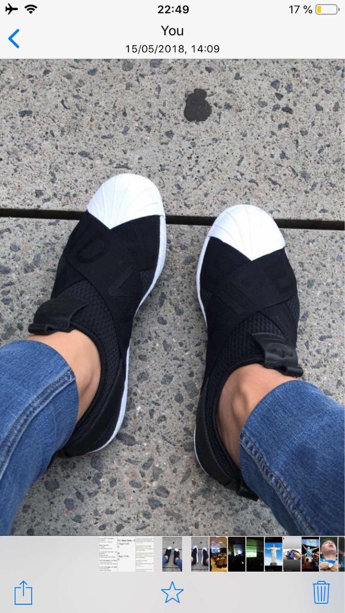 Zapatillas adidas Mujer Negras Elastico Superstar
