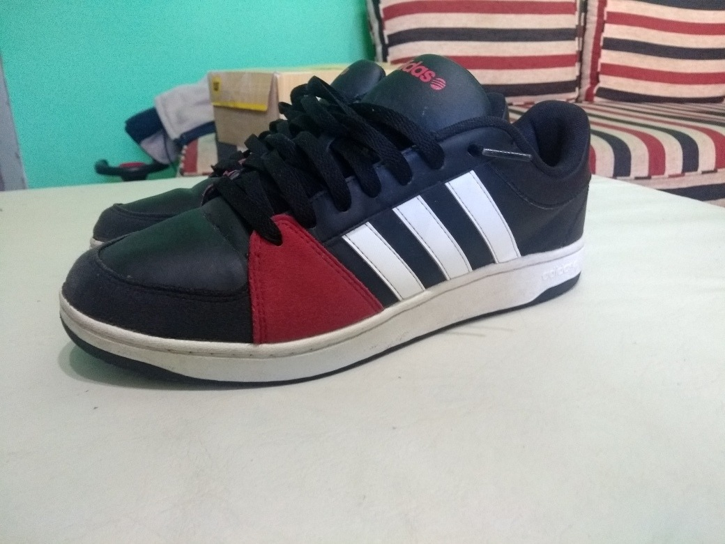 sports shoes a90b4 48a1d ... new zealand zapatillas adidas neo label hopps negro rojo. cargando  zoom. eb2e5 159c6