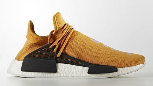 zapatillas adidas nmd human race naranja pharrell 2017
