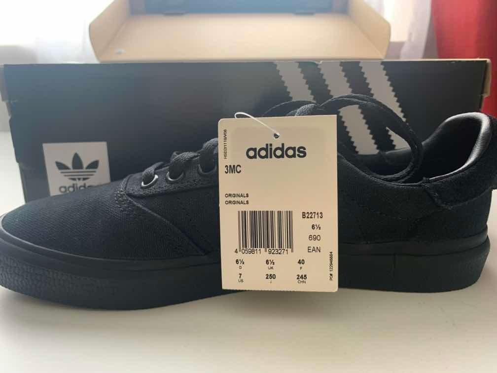 zapatillas negras adidas 40