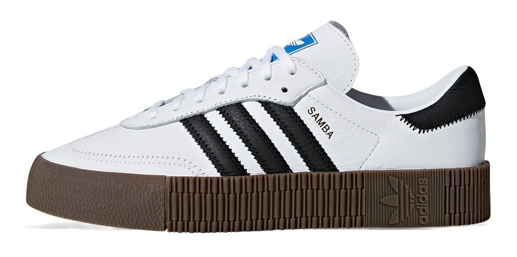 Originals Mujer Sambarose Blanco Adidas Zapatillas ONmw80vn