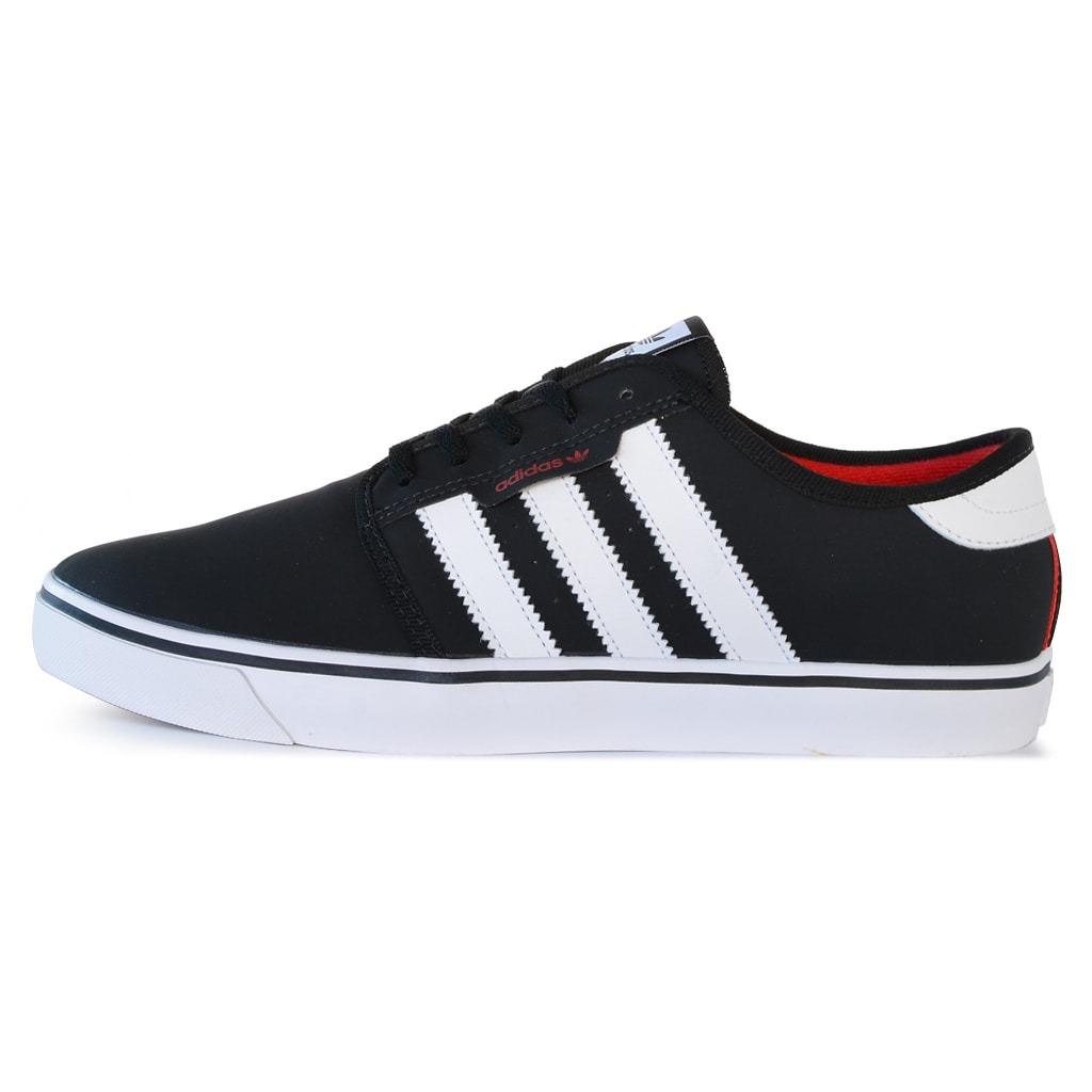 superior quality 9dd99 468af zapatillas adidas originals seeley negra blanca hombre. Cargando zoom.