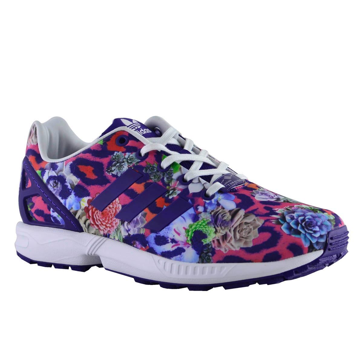 461743788f4ea zapatillas adidas originals zx flux niños flower. Cargando zoom.