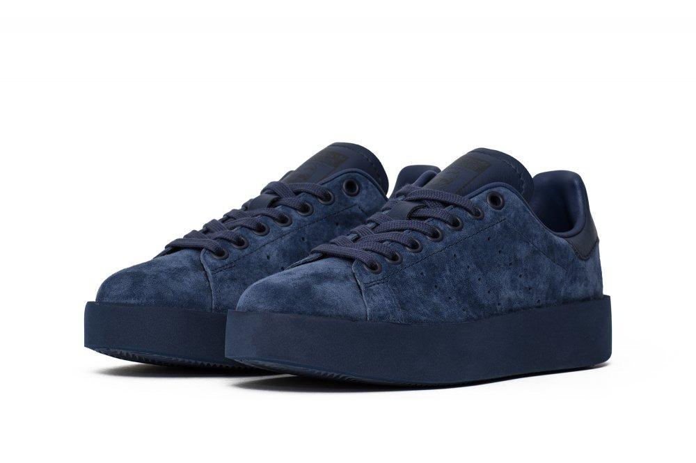 new concept 7eeeb f3ab7 zapatillas adidas stan smith bold azul con plataforma. Cargando zoom.