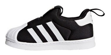 Superstar De Originals Negras Adidas Bebés Zapatillas 360 34L5RAj