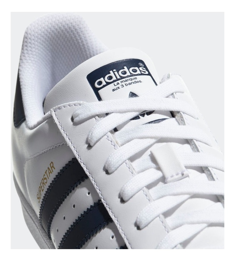 adidas superstar blanca y azul