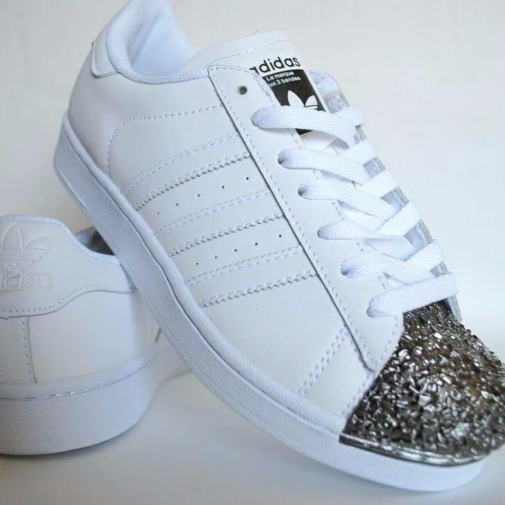 Piedras 299 Zapatillas Punta 00 Adidas Superstar Blancas Simil 3 wavX1q