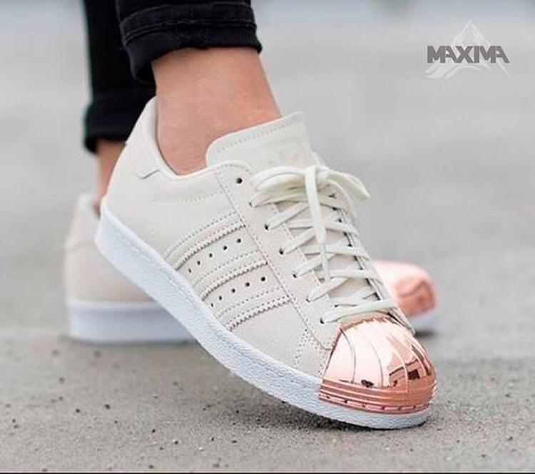 Zapatillas adidas Superstar Blancas Puntera Rosa