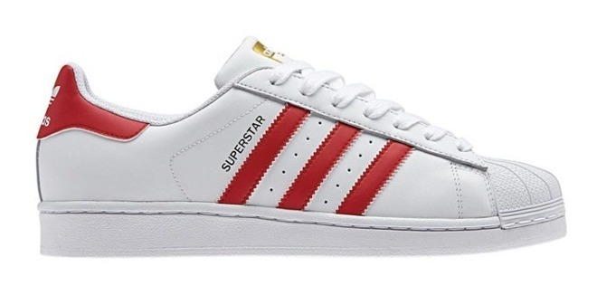Zapatillas adidas Superstar Blanco Rojo
