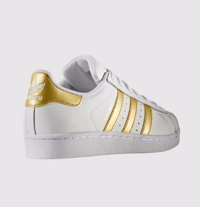 adidas superstar blanco y dorado