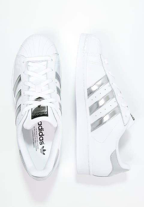 reduced adidas superstar blanco and plata 0c4e9 78098