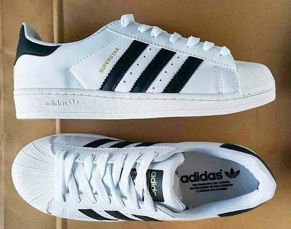 d7faf14adcd ... get zapatillas adidas superstar color blanco raya negra. cargando zoom.  c54c7 4c1c3