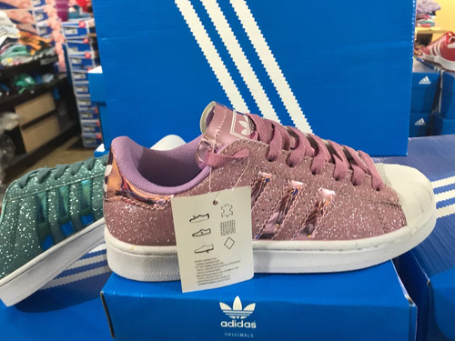 zapatillas adidas superstar con brillo