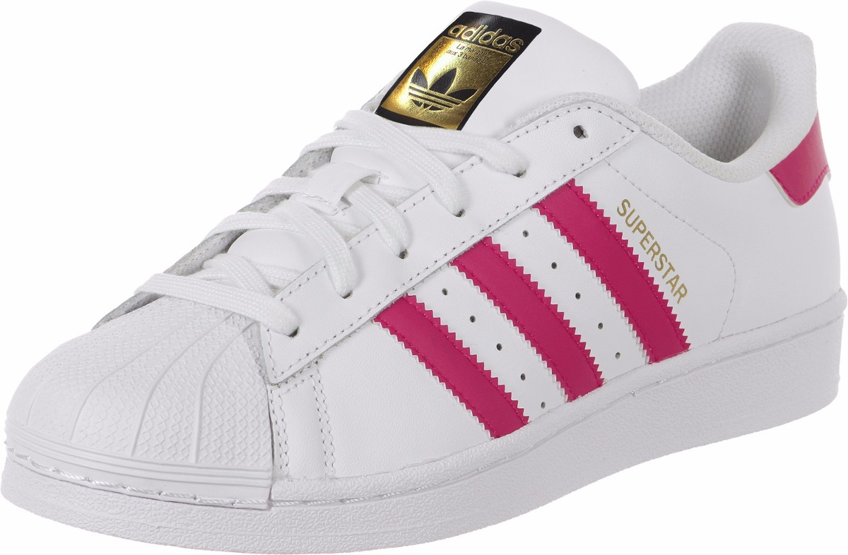 more photos be117 b250e zapatillas adidas superstar de cuero blanco rosa. Cargando zoom.