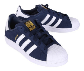 zapatillas adidas superstar hombre azules