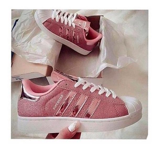 Zapatillas Adidas Rosas Glitter Zapatillas en Mercado