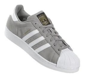 Zapatillas adidas Superstar Gris Caballero Envio Gratis !!!