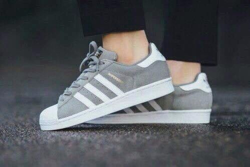 adidas superstar grises zapatillas