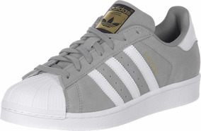 97295996 Zapatillas adidas Superstar Gris Gamuza Indonesia 35 A 43