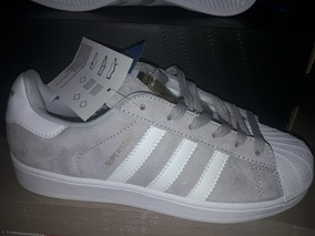 zapatillas adidas superstar grises con brillo