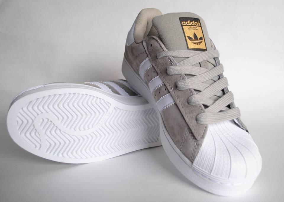 Zapatillas adidas Superstar Gris Melange Dama Envio Gratis