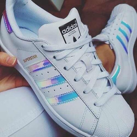 Zapatillas adidas Superstar Hologram Tornasol Fem Originales