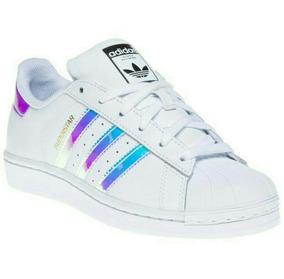 Zapatillas adidas Superstar Importadas Blancas Tornasoladas