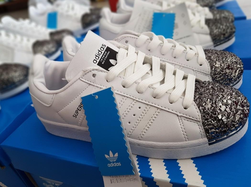 Zapatillas adidas Superstar Metal Toe S80 Blancas Puntera N ... dbf7e99cd625c