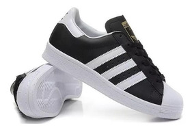 zapatillas superstar adidas negras