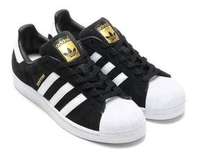Zapatillas adidas Superstar Negra Gamuza Originales!