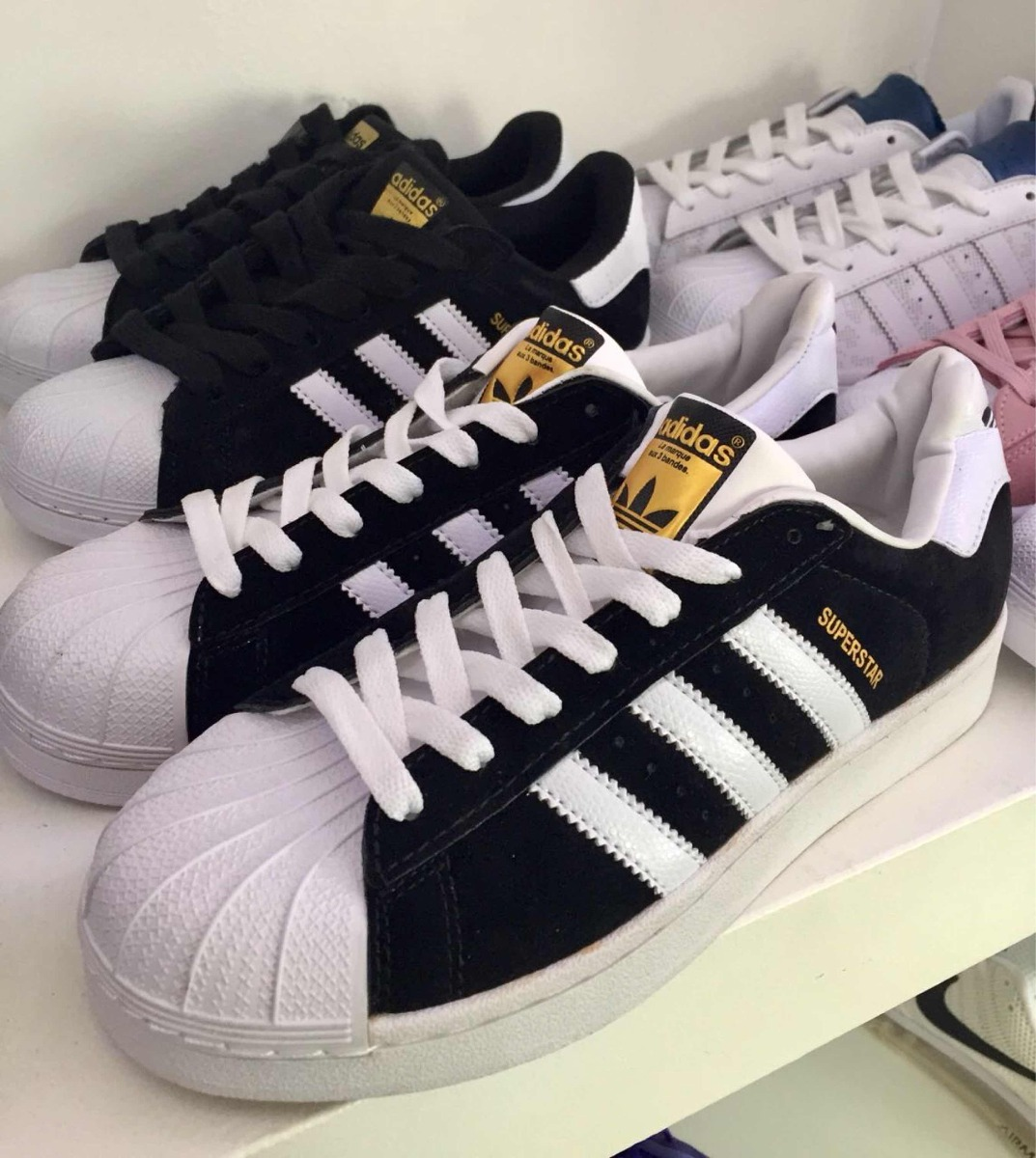 ce933af74abf3 ... sweden zapatillas adidas superstar negras gamuzada 40 41 42 43. cargando  zoom. b7922 9fbbb