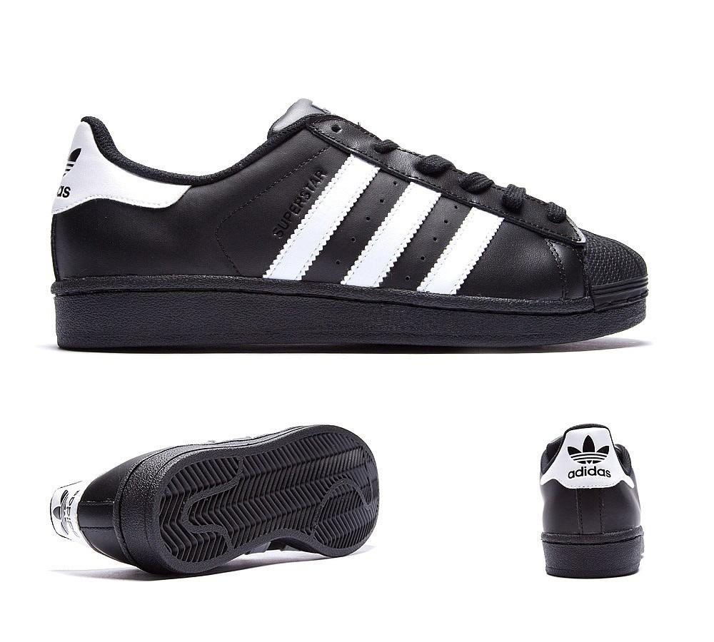zapatillas adidas hombre superstar negras